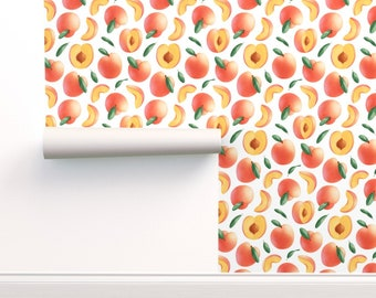 peach wallpaper etsy peach wallpaper etsy