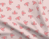 Happy Uterus Fabric - Happy Crazy Uterus In Pink, Large By Joanandrose - Pink Female Uterus Cotton Fabric By The Yard With Spoonflower