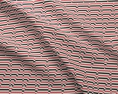 Striped Fabric - Motif Moderne 2b By Muhlenkott - Stripe Zig Zag Red Modern HOme Decor Black Cotton Fabric By The Yard With Spoonflower
