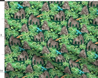 Gorillas Silverbacks Gorilla Primates Jungle Foliage Howard Robinson Elizabeth/'s Studio Rare HTF Sold By The FAT QUARTEr Please READ Listing