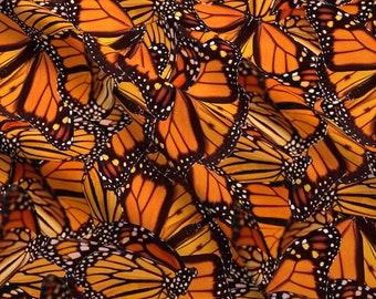 Butterfly Butterfly Blue Butterflies Monarch Fabric Printed by Spoonflower BTY