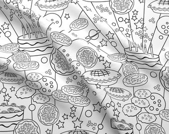 Black And White Doodle Fabric