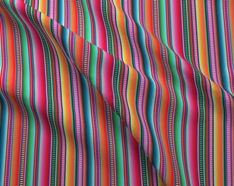 Serape Fabric - Mexican Blanket By Anchored By Love - Mexican Blanket  Striped Rainbow Colorful Cotton Fabric By The Yard With Spoonflower 5643d54e7f