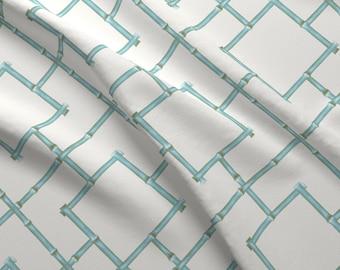 Jason Yenter Fabric Diaphanous By In The Beginning Trellis Turquoise #7ENC3-27