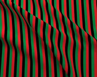 8a411d815ea Afro-American Fabric - Thin Stripe Red