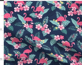 Free Spirit Fabrics 50/'s Retro Tropical Florida Kitsch Pink Flamingo Fabric OOP VHTF BTY South Beach Pink Flamingos