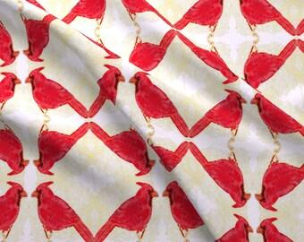 Modern bird fabric etsy