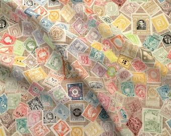 Postage Stamp Fabric