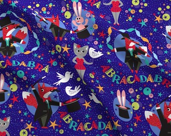 ca31f26d2 Magic Fabric - Abracadabra By Cjldesigns - Magic Magician Illusion Animal  Rabbit Fox Cat Kid's Cotton Fabric By The Yard With Spoonflower