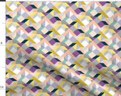 Geometric Fabric - Graphic Crazy2 By Kaeselotti - Geometric Triangles Cubes Colorful Bold Graphic Cotton Fabric By The Yard With Spoonflower