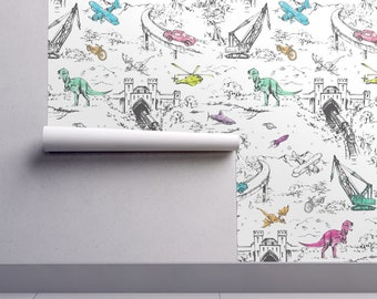 Dinosaur Wallpaper Etsy