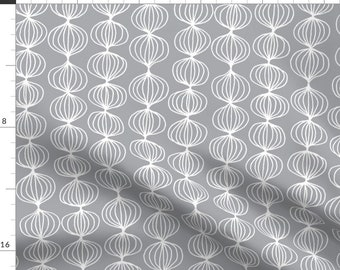 Gray ogee 22 inch wide uzbek ikat cotton fabric Gray ogee handwoven 100/% cotton fabric by the yard SKU 22C014