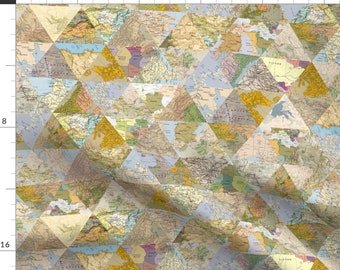 Retro triangle 100/% Cotton Fabric By THE YARD  trendy triangles quilting  DTP  digital textile printing  Yk fabrics JDTP557: