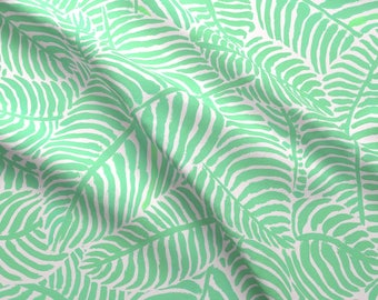 1a71cda76970 Minty Palm Fronds Fabric - Mint Palms By Theprimefloridian - Palm Fronds  Tropical Summer Beach Cotton Fabric By The Yard With Spoonflower