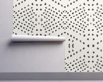 Art Deco Wallpaper Burst Gold On White By Anvil Studio Art