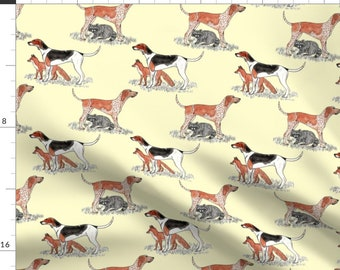 Melissa Mortenson Riley Blake Designs Fox Farm Hounds Pink SPARKLE Quilting Cotton Fabric Fox Hunting Gold Metallic SPARKLE