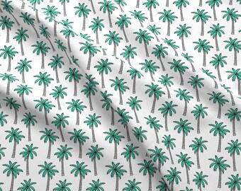 Hawaiian tree 100/% cotton fabric BY 1 YARD Asa Lightweight palm leaf Jas37