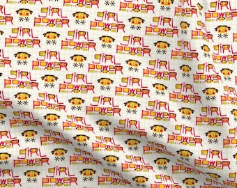 Girls Girl Power is Pink and Women are Nasty Fabric Printed by Spoonflower BTY