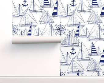 Nautical Wallpaper Etsy