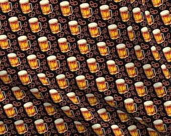 Octoberfest by Kanvas Studios-BTY-Glasses of Beer Stacked-Black B//G