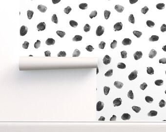 Black Dot Wallpaper Etsy