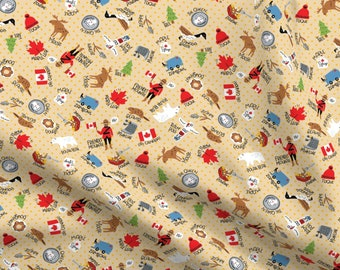 Cotton Canada Provincial Flags Canadian Classics Cotton Fabric Print BTY D476.34