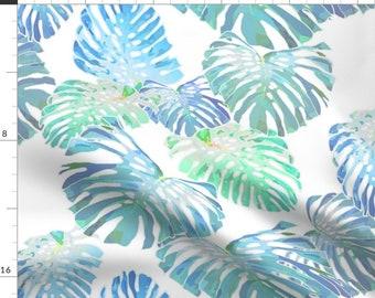 Pointillism Leaves  Honeysuckles  Cotton Sateen Table Runner by Spoonflower Botanical Table Runner Vines Indigo On White 150 by kadyson