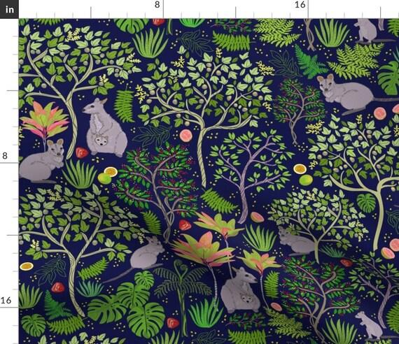 Kangaroos Fabric Kalihi Valley Wallabies By Honoluludesign Etsy
