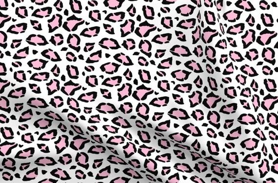 Pink Leopard Print Design Cotton Fabric Fat Quarter
