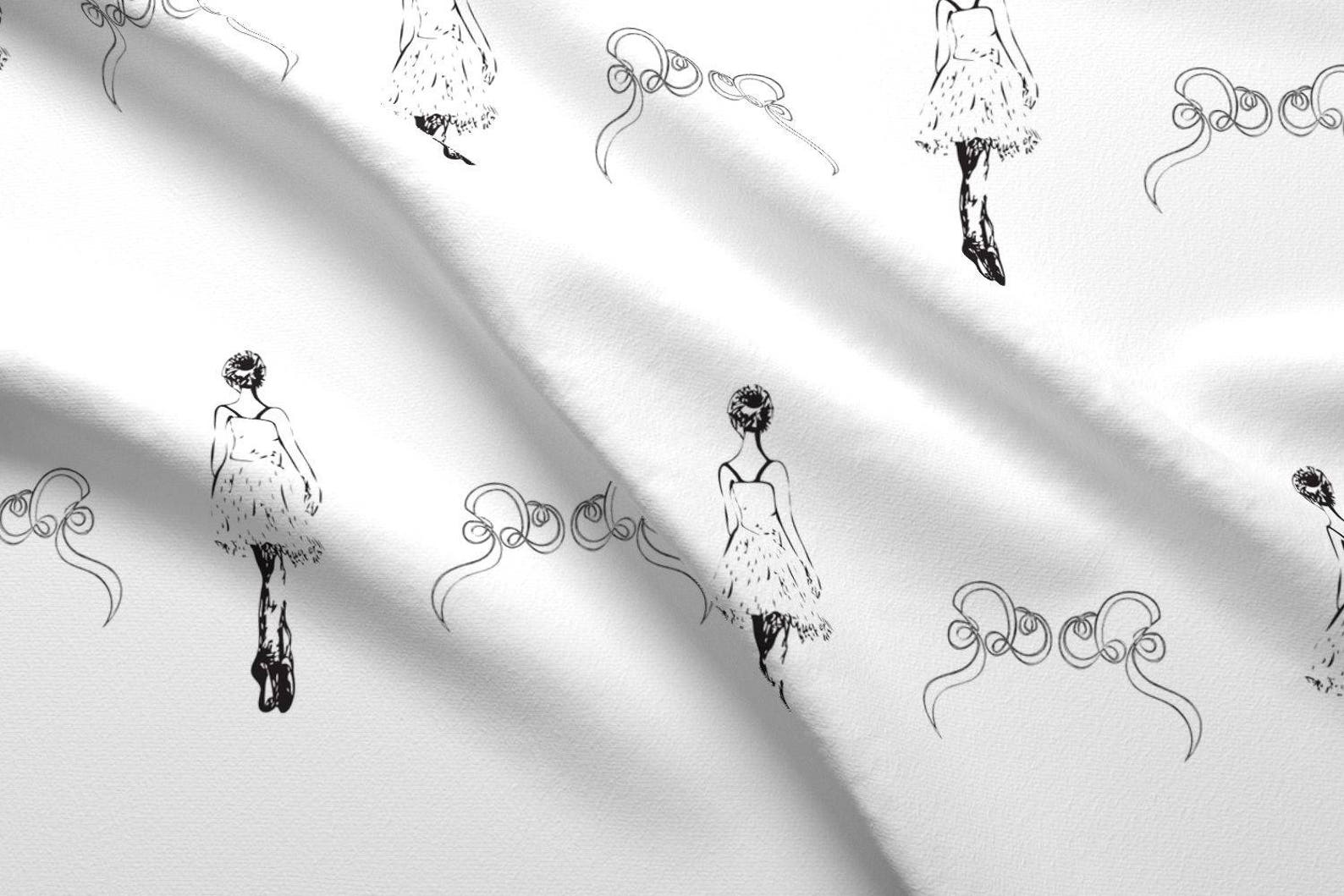 ballet fabric - pointe by myvisualmark - ballet dance point shoes dance class boys girl cotton fabric by the yard with spoonflow