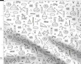 Science Fabric - Back To School Science Chemistry Physics Class Student By Littlesmilemakers- Cotton Fabric by the Yard with Spoonflower