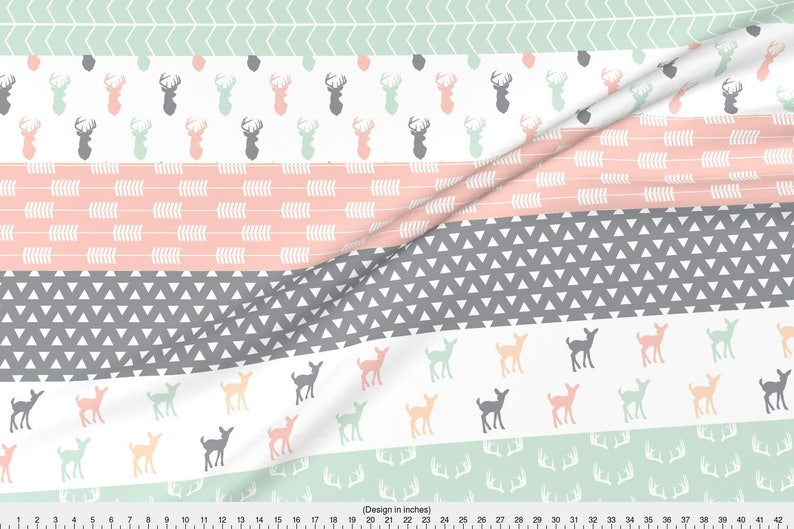 576f2a4e02 Cheater Quilt Fabric Girl Woodland Wholecloth