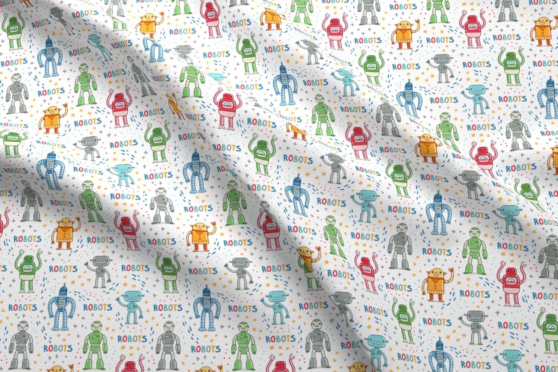 Rainbow Robots Fabric Robots By Stolenpencil Robots Kids | Etsy