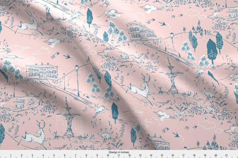 b4cfbca89cf Toile Fabric Le Parc Toile Blush By Nouveau Bohemian   Etsy