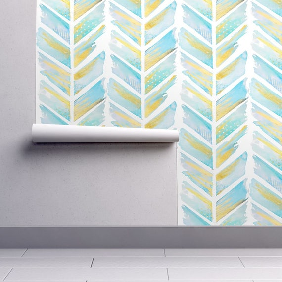 Arrow Wallpaper Watercolor Feather Chevron Large By Emily