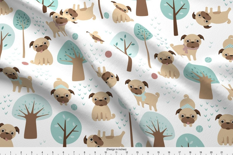 "Sold by the yard S-683 Fleece Printed Fabric HAPPY DOGS 58/"" Wide"