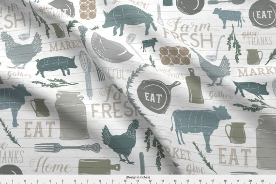 Modern Farmhouse Fabric Sing For Your Supper Gather Round