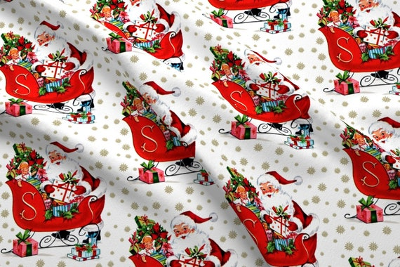 NEW Christmas Santa Claus Snow Flake Print Scarf Wrap Chiffon Soft Long Light UK