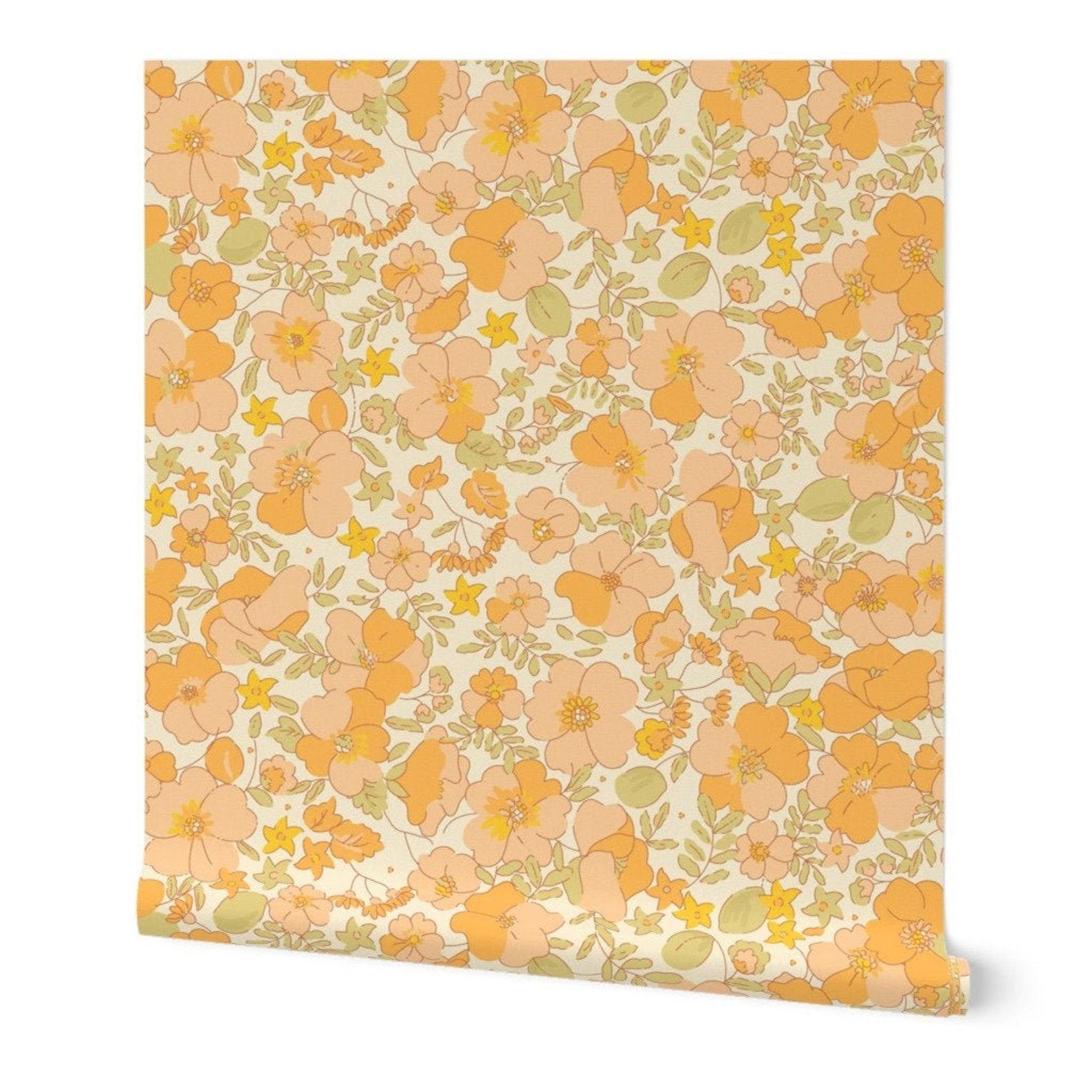 Floral Adhesive Wallpaper