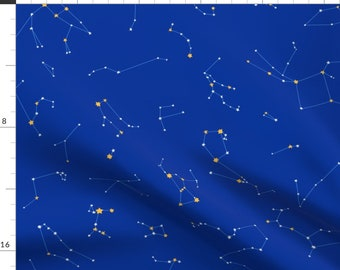 Constellation Fabric - Constellations By Logan Spector - Constellation Star Space Celestial Sky Cotton Fabric By The Yard With Spoonflower