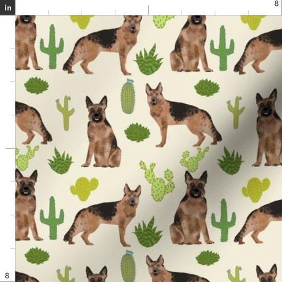 Textured German Shepherd Dog Square Tie Clip