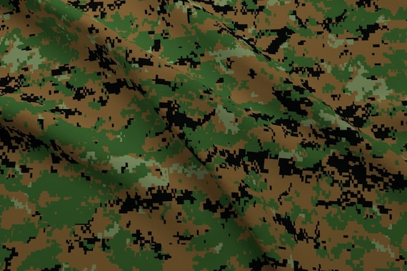 discount shop sale uk undefeated x Camouflage Fabric - Marine Marpat Digital Woodland Camo By Ricraynor -  Marine Camo Boy Nursery Cotton Fabric By The Yard With Spoonflower