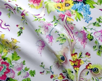 Floral Bouquet Fabric - Rococo Marie Antoinette'S Boudoir Painted By Bonnie Phantasm - Flower Cotton Fabric By The Yard With Spoonflower