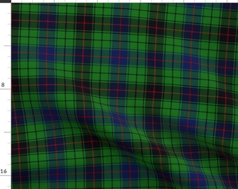 Davidson Fabric - Davidson Tartan By Weavingmajor - Davidson Plaid Tartan Checked Green Red Blue Cotton Fabric By The Yard With Spoonflower
