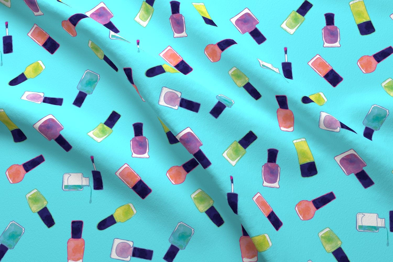 aqua nail polish fabric nail polish watercolors in blue by etsy. Black Bedroom Furniture Sets. Home Design Ideas