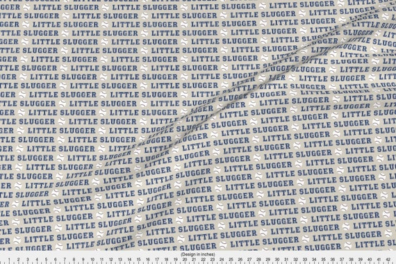 "2 Fat Quarters Little Slugger 100/% Cotton Multi-Color Craft//Quilting Up to 45/"""