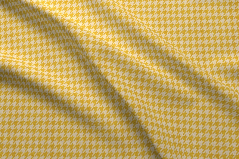 d590015181a Mustard Fabric Le Parc Houndstooth Mustard By Nouveau   Etsy