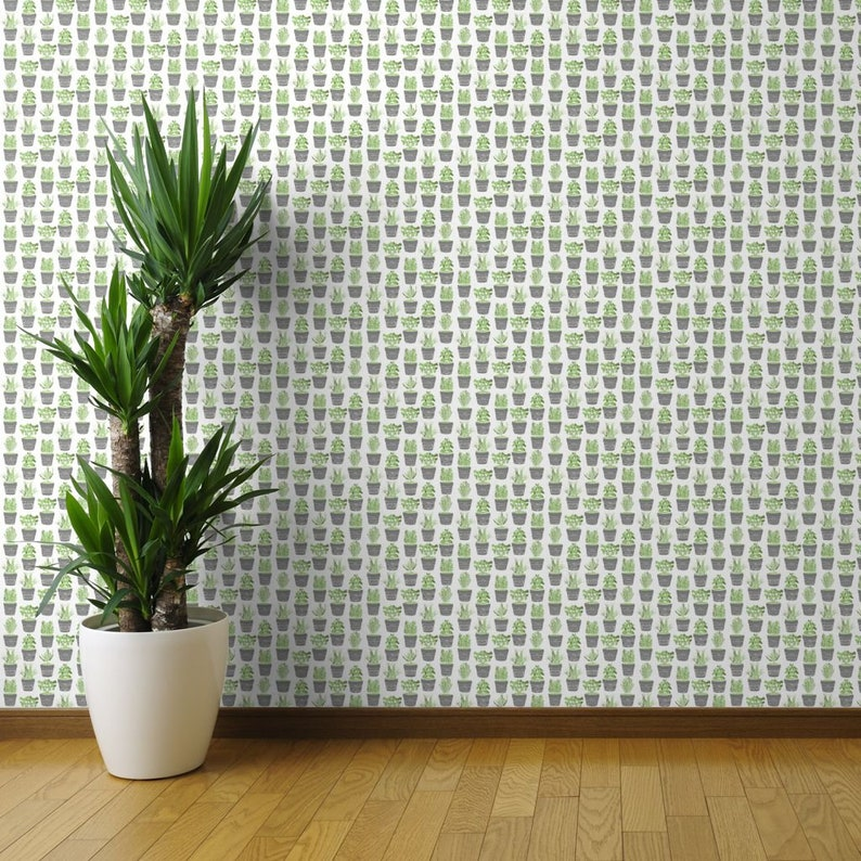 Herbs Green Custom Printed Removable Self Adhesive Wallpaper Roll by Spoonflower Herbs Wallpaper Herbs In Chalkboard Pots By Bubbledog