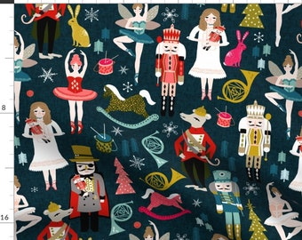 Nutcracker Fabric - Nutcracker Ballet Xmas Holiday Christmas Fabric Design By Andrea Lauren- Cotton fabric by the yard with Spoonflower