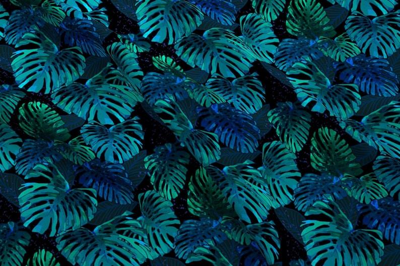 f29e5e0e Hawaiian Botanical Fabric Monstera Jungle Hula Moon 300 By | Etsy